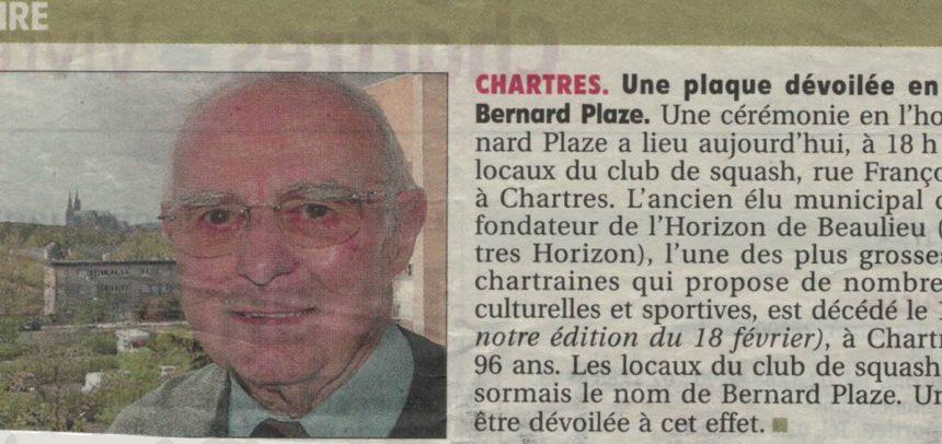 En hommage à Bernard PLAZE