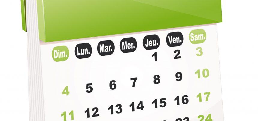 A vos calendrier